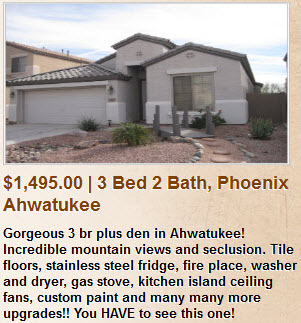 Rental in Ahwatukee